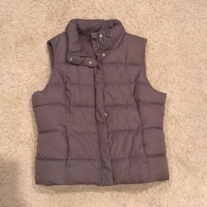 Taupe Grey GAP Puffer Vest Sz xl